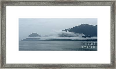 Cloud-wreathed Coastline Inside Passage Alaska Framed Print