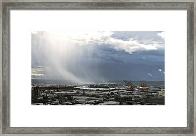Framed Print featuring the photograph Cloudburst - Tacoma by Sean Griffin