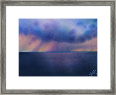 Cloudburst At Sea Framed Print by Robin Street-Morris