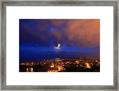 Clouded Eclipse Framed Print