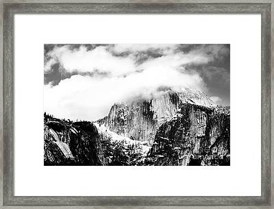 Clouded Half Dome Framed Print by Charmian Vistaunet