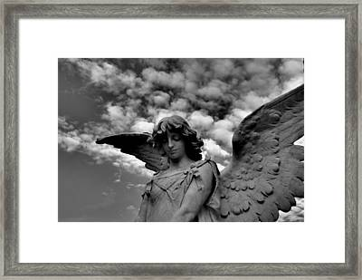 Clouded Framed Print by Phil Bongiorno