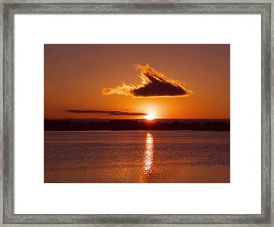 Clouded Sunrise Framed Print by Thomas Lewis