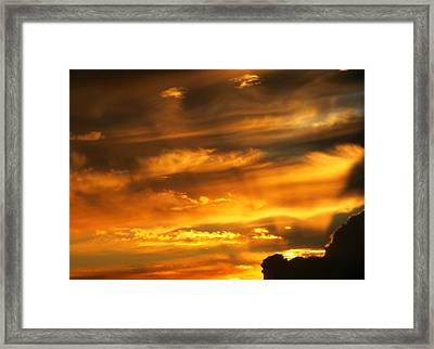 Clouded Sunset Framed Print by Kyle West