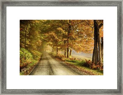 Cloudland Road In Vermont Framed Print