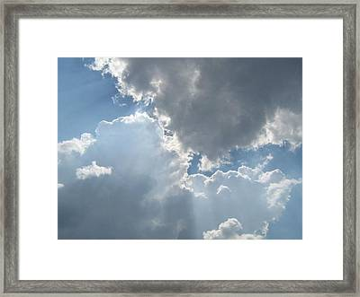 Clouds 1 Framed Print by Barbara Yearty