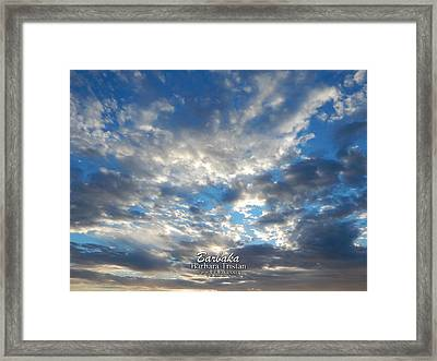 Clouds #4049 Framed Print by Barbara Tristan