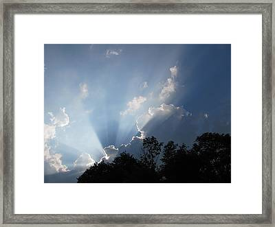 Framed Print featuring the photograph Clouds 7 by Douglas Pike