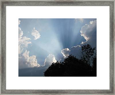 Framed Print featuring the photograph Clouds 9 by Douglas Pike