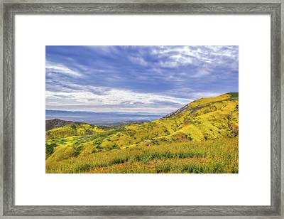 Framed Print featuring the photograph Clouds Above Temblor Range by Marc Crumpler