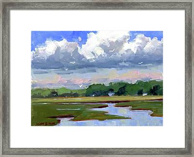 Clouds Above The Marsh Framed Print