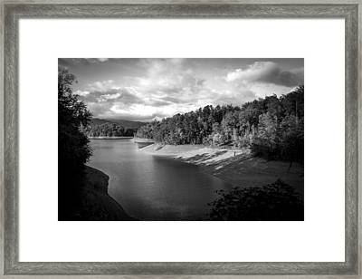 Clouds Above The Nantahala River In Nc Framed Print