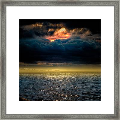 Clouds Across The Water Framed Print by Bob Orsillo