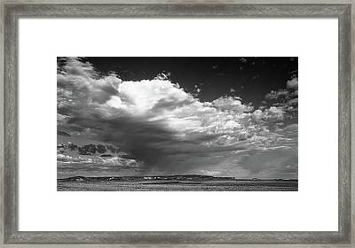 Framed Print featuring the photograph Clouds Along Indian Route 13 by Monte Stevens