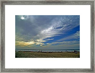 Framed Print featuring the photograph Clouds And Blue by Christopher Woods