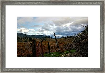 Framed Print featuring the photograph Clouds And Field by Chriss Pagani