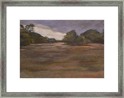 Clouds And Fields Framed Print