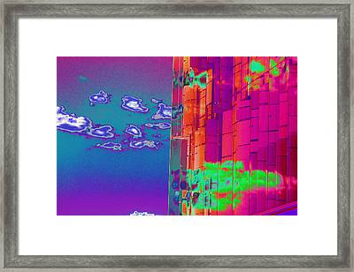Clouds And Glass Framed Print by Richard Henne