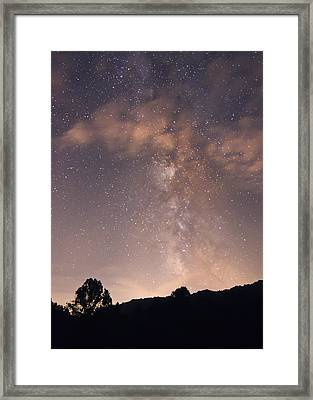 Framed Print featuring the photograph Clouds And Milky Way by Wanda Krack
