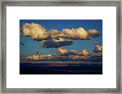 Framed Print featuring the photograph Clouds And Red Rocks Hdr by Ron Chilston
