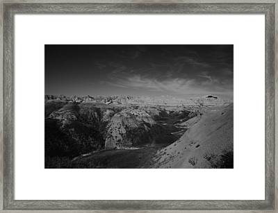 Clouds And Rocks Framed Print