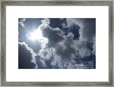 Framed Print featuring the photograph Clouds And Sunlight by Megan Dirsa-DuBois