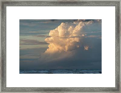 Clouds And Surf Framed Print