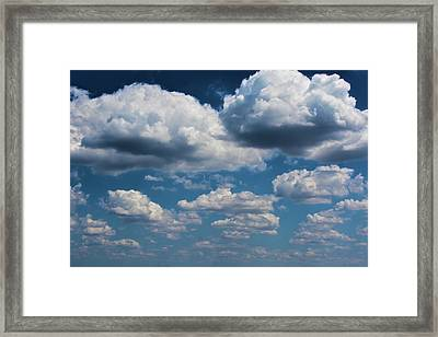 Clouds As Far As The Eye Can See Framed Print
