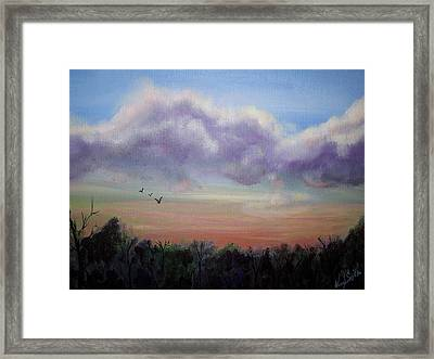 Clouds At Dusk Framed Print by Wendy Smith