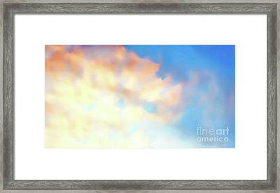Clouds At Sunset, Beautiful Light Settings, Graphic From Painting. Framed Print