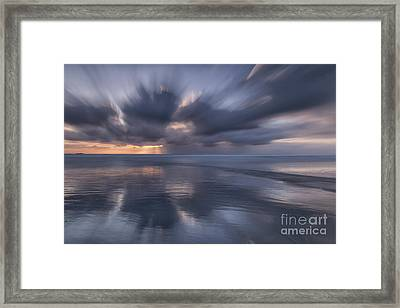 Clouds At Sunset Framed Print by Masako Metz