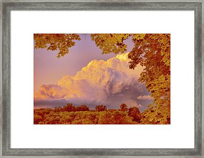 Clouds At Sunset, Southeastern Pennsylvania Framed Print