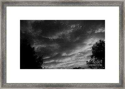 Clouds Before The Storm Framed Print by Marsha Heiken