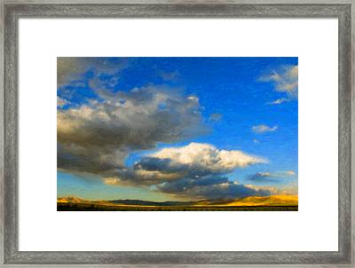 Clouds Framed Print by Betty LaRue