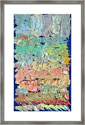 Clouds. Colorful Painter Palette. Exhausted Paint And Abstract Painting. Framed Print by Vitali Komarov