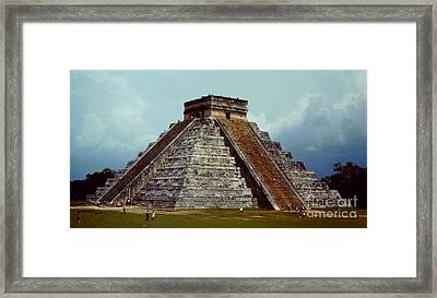 Clouds Crowd Kukulkan Framed Print by Roy Anthony Kaelin