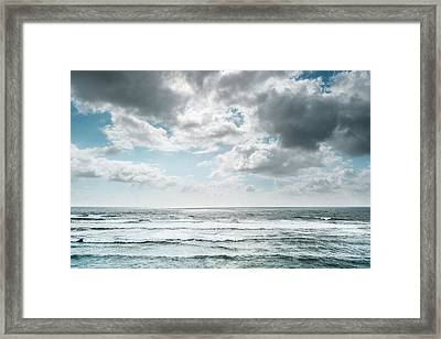 Framed Print featuring the photograph Clouds Dream Of Being Oceans by Alexander Kunz