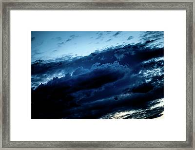 Framed Print featuring the photograph Clouds Fall by Eric Christopher Jackson