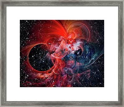 Clouds Galaxy Framed Print by Marfffa Art