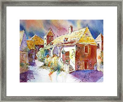 Clouds Gathering Over Gizouzac Framed Print