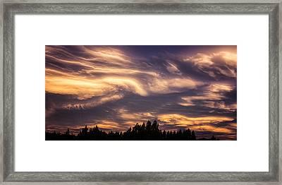 Clouds Gone Crazy Framed Print by Ian Riddler