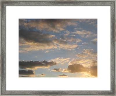 Clouds Framed Print by Hasani Blue