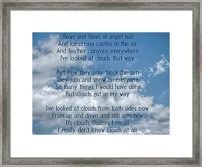 Clouds Illusions Framed Print