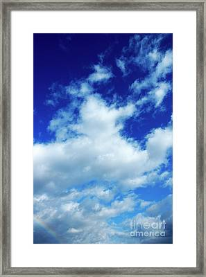 Clouds In A Beautiful Blue Sky Framed Print by Sami Sarkis