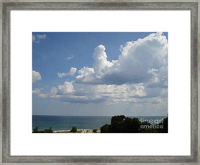 Clouds In August Framed Print by John  Bichler