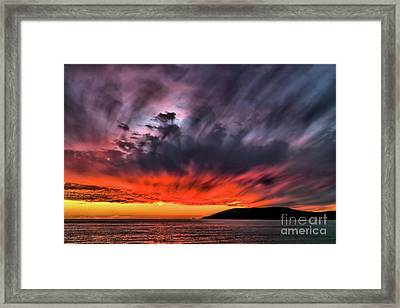 Clouds In Motion Before The Storm Framed Print