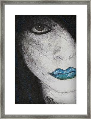 Clouds In My Mouth Framed Print by Oblivion Arts