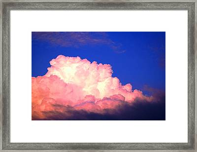 Clouds In Mystical Sky Framed Print by Lisa Johnston