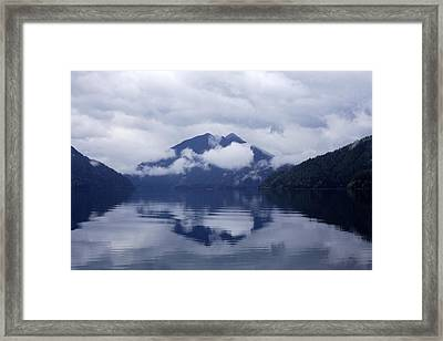 Clouds In The Lake Framed Print
