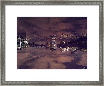 Clouds In The Passaic - Newark Nj Framed Print